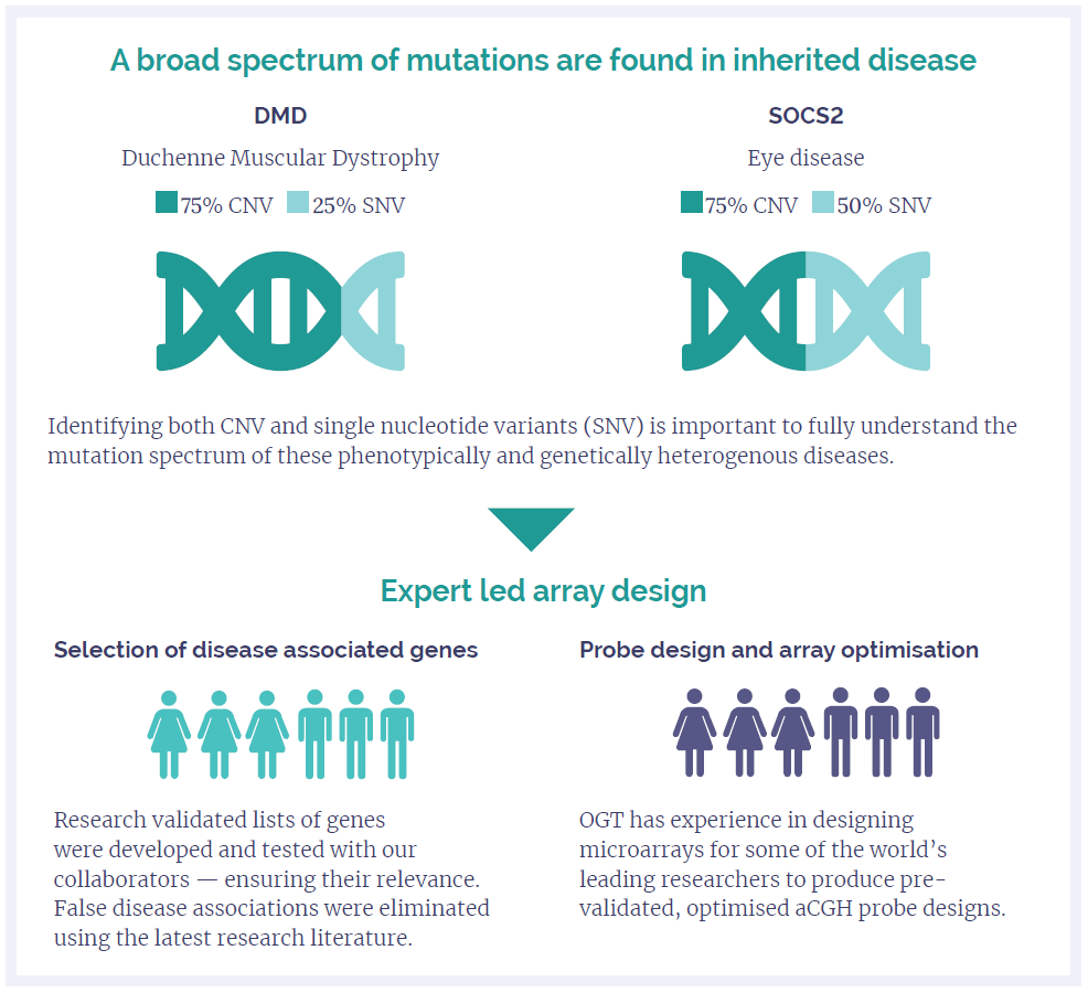 A broad spectrum of mutations are found in inherited disease Image